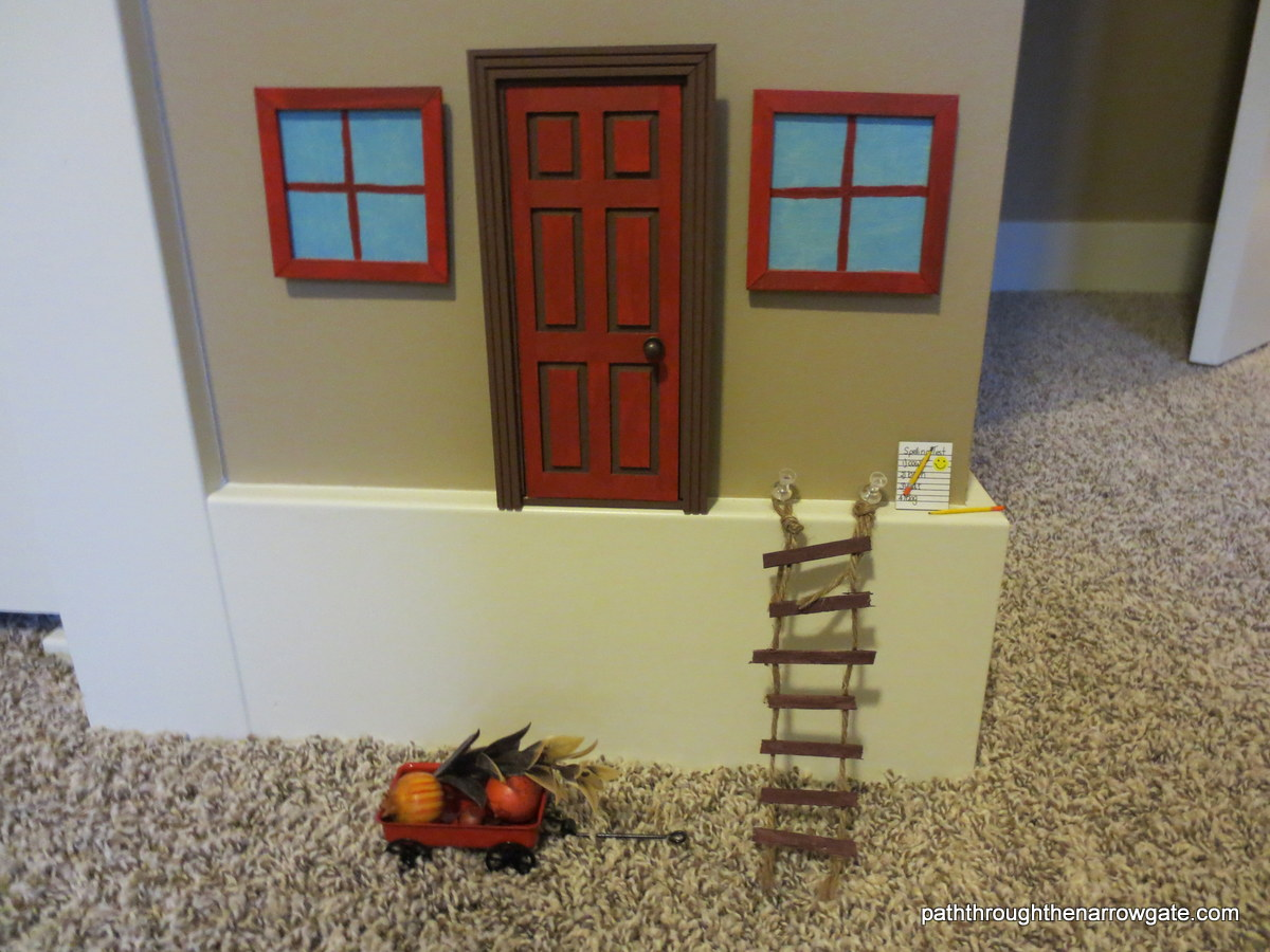 "Every room should have a touch of whimsy! Here's a ""Little People"" or fairy door for a boy's room."
