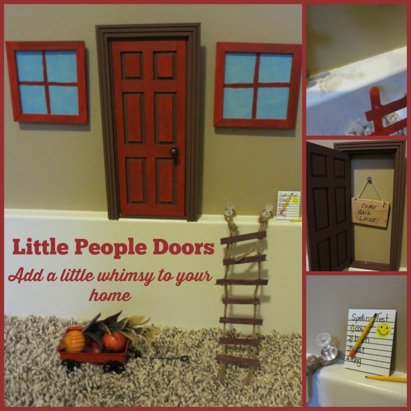Little People Doors: Add a little whimsy to your home! Lots of great ideas for little people doors , including glow-in-the-dark windows and footprints!
