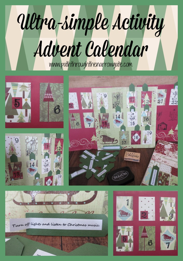 Activity Advent Calendar: Here's an ultra-simple, no sugar, no trinket Advent Calendar that focuses on family time and activities - includes a printable activity suggestion page!