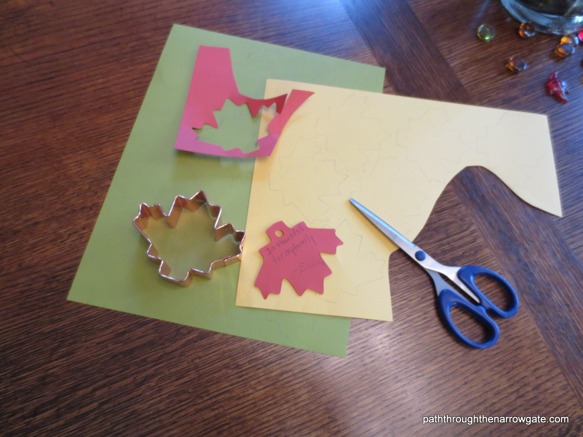 Cut out leaves.