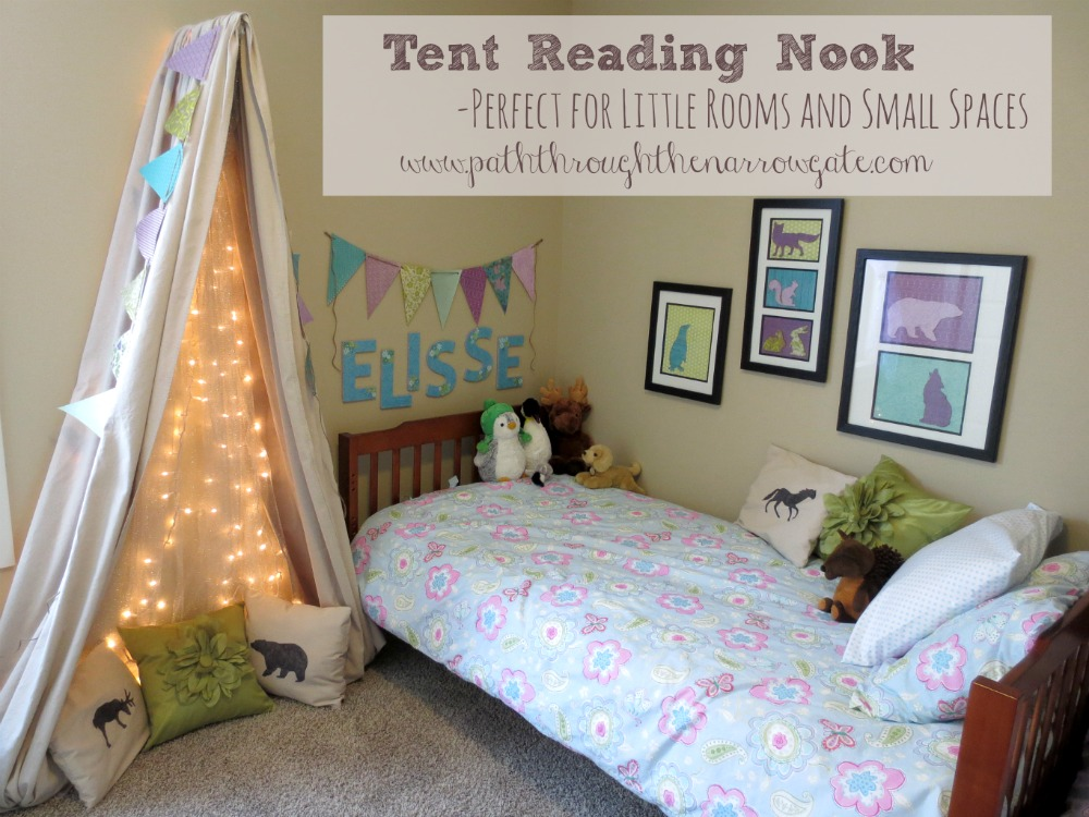 Tent Reading Nook For A Small Space