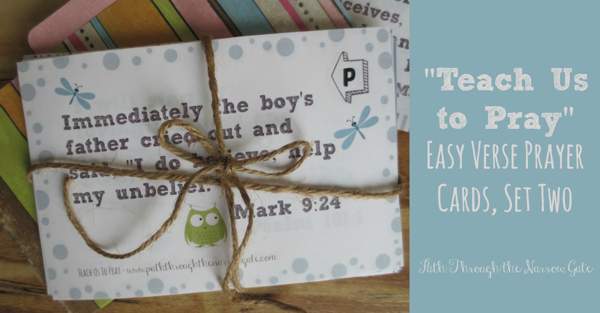 Teach Us to Pray Easy Verse Set 2 FB