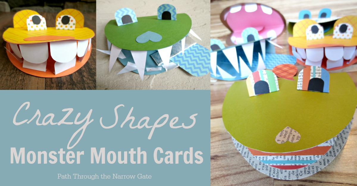 These super cute Monster Mouth Cards are a great rainy day activity and will bring a smile to the face of any recipient, old or young (if you can get them away from their creators - better make two!)