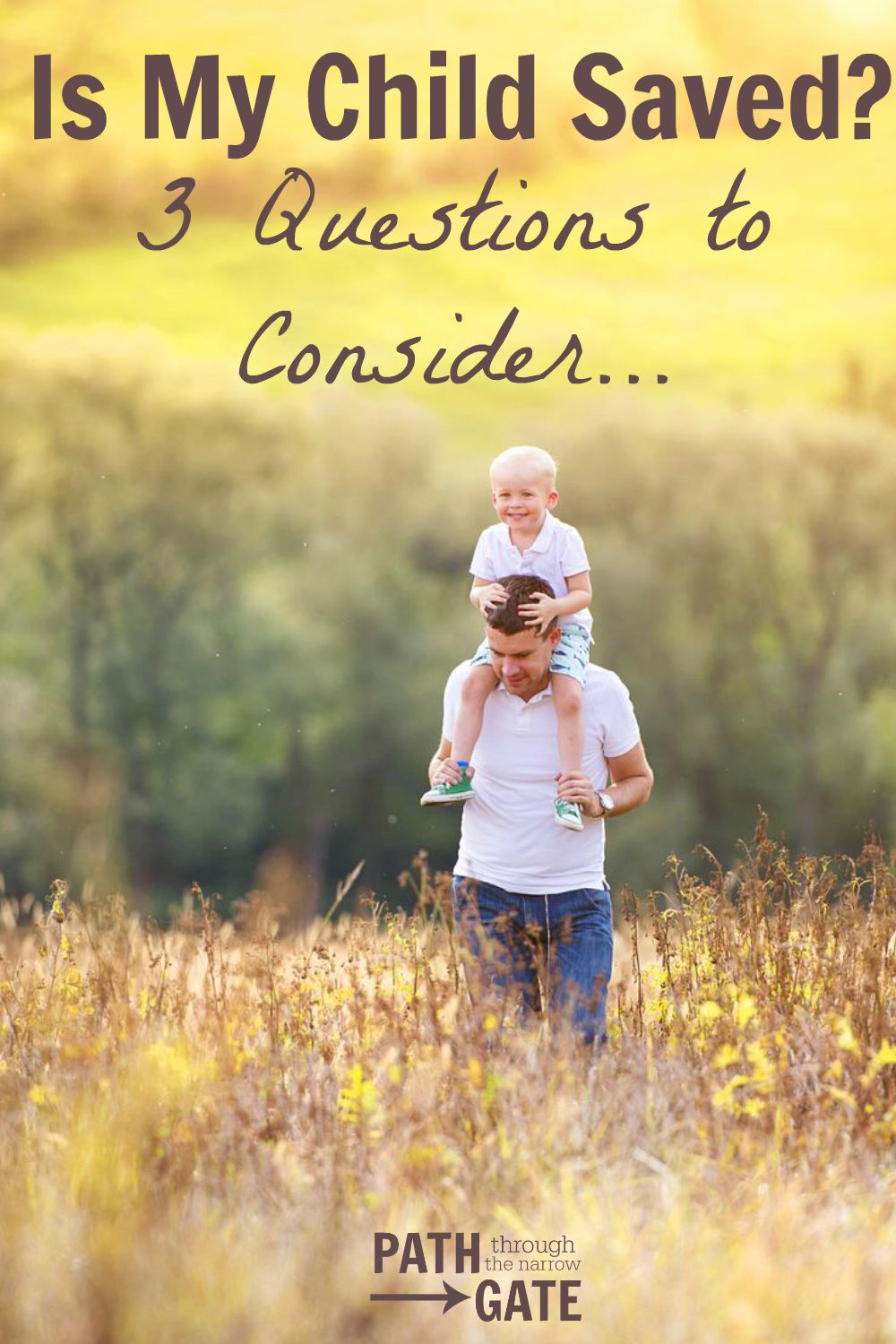 "Have you ever wondered, ""Is my child saved?"" This post has some interesting thoughts to help parents consider this."