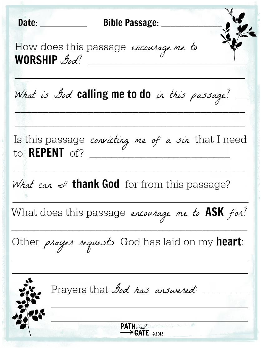 photo relating to Prayer Printable known as Is Bible Looking through Only a Check out upon Your In direction of-Do Listing? - Course