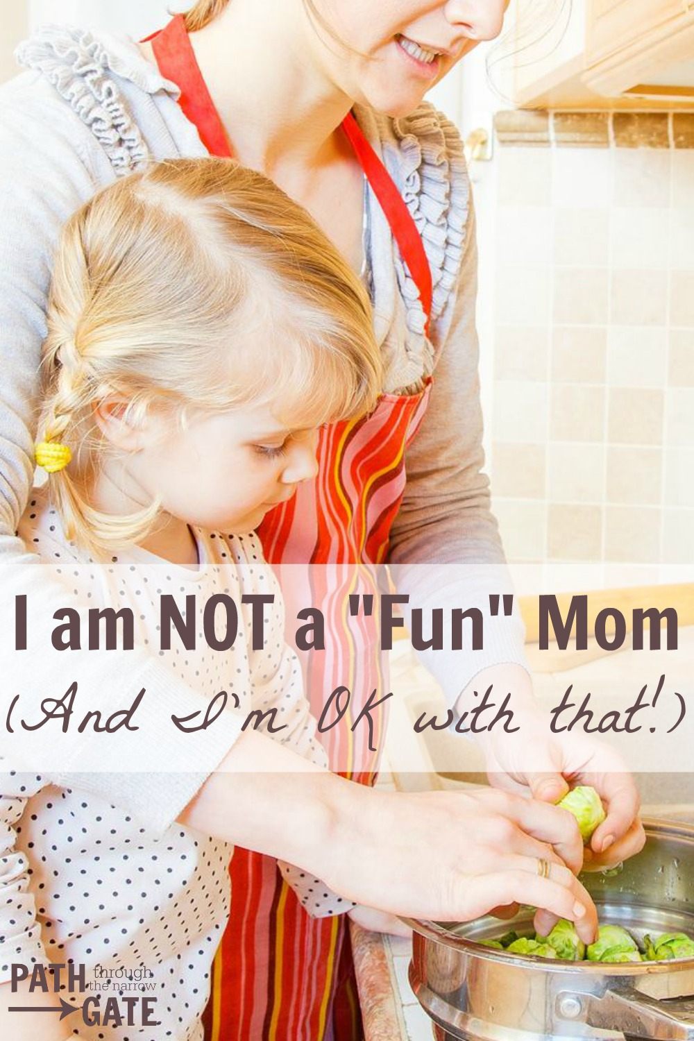 "Do you feel like a failure because you don't measure up to your own expectations for being a ""fun"" mom? Let's stop measuring our value as parents with the yard stick of ""fun"" experiences. You don't have to be a fun mom to be a good mom!"