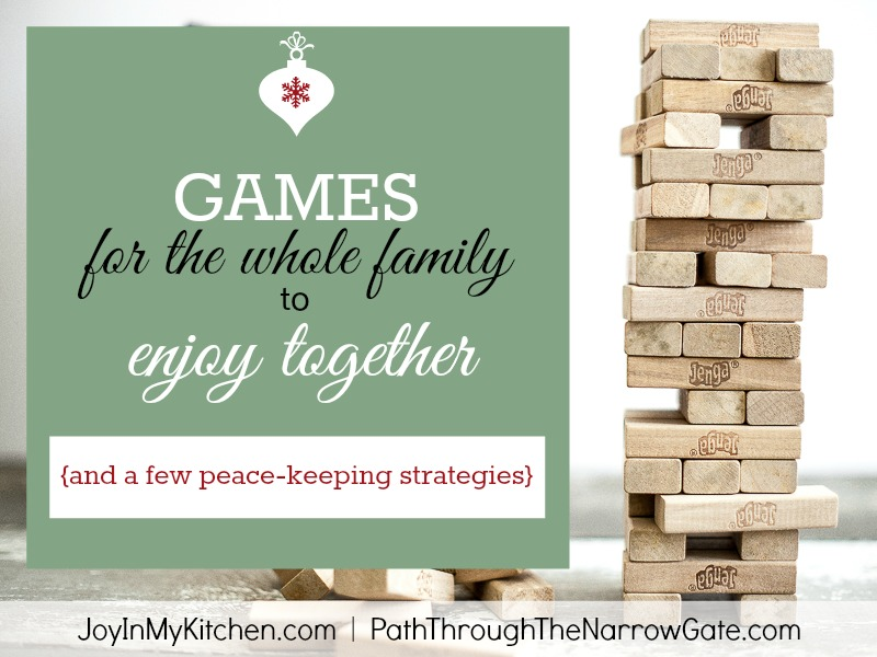 7 games for the whole family to enjoy together plus some peace keeping strategies - Family Games To Play At Christmas