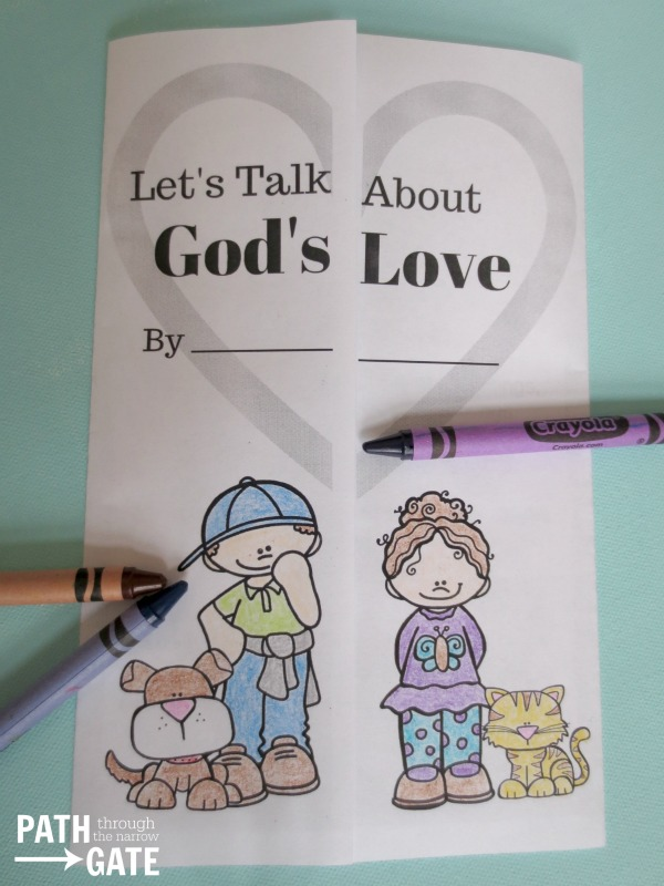 Teach your children about God's Love with this interactive notebook activity, including mazes, cross word puzzles, and even a turtle search. Perfect for home or classroom use.|Path Through the Narrow Gate.com