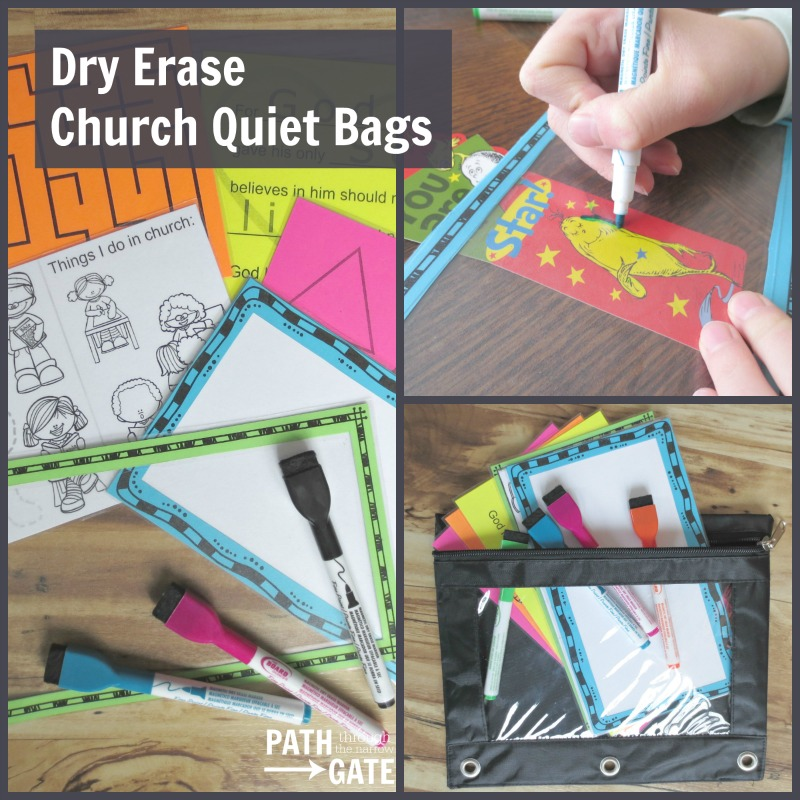 Dry Erase Church Quiet Bags fea