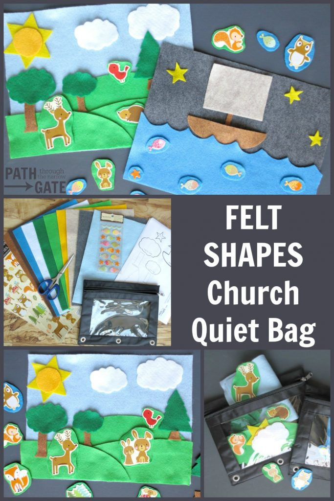 If you are looking for simple ways to keep toddlers quiet in public places, these Church Quiet Bags are the perfect solution! Best part? You can make them, stick them in a diaper bag or purse, and forget them until you need them. Path Through the Narrow Gate