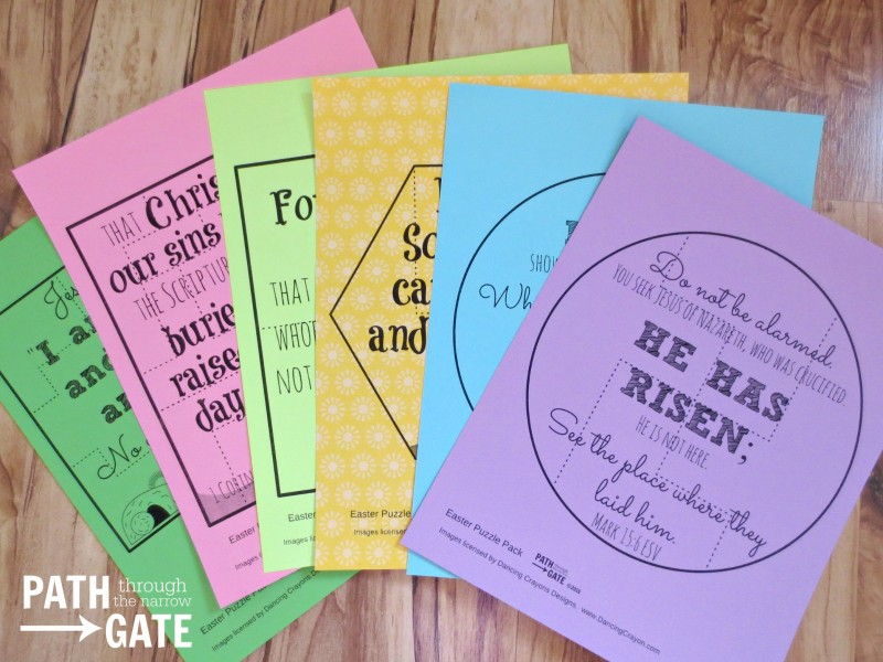 are you looking for a simple way to review some easter bible verses with your children