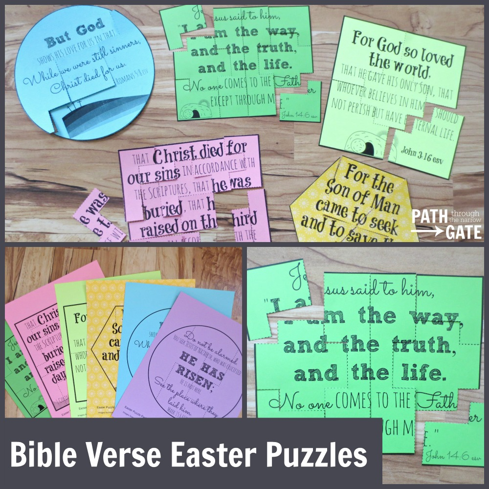 Bible Verse Easter Puzzles - Path Through the Narrow Gate