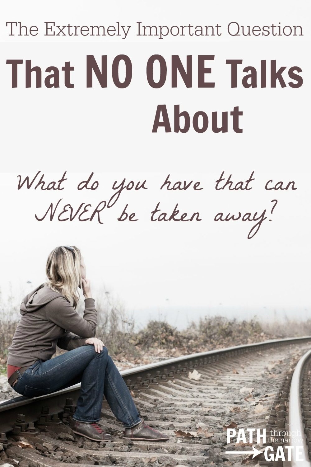 This question has the power to change the way that we look at our lives. It has the power to search our souls. It offers both hope and conviction.|The Extremely Important Question That NO ONE Talks About