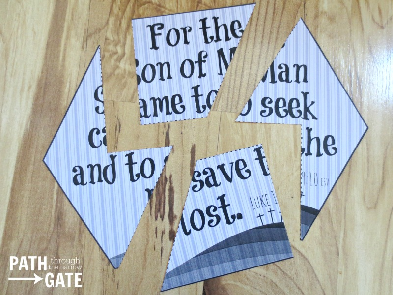 Are you looking for a simple way to review some Easter Bible verses with your children? These Bible Verse Easter Puzzles are just the ticket! Path Through the Narrow Gate