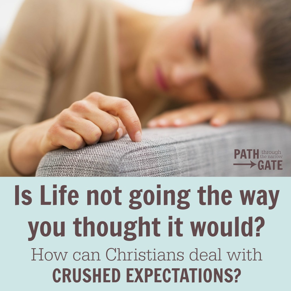 Is life not going the way you thought it would? How can Christians deal with crushed expectations? Lessons from Peter...
