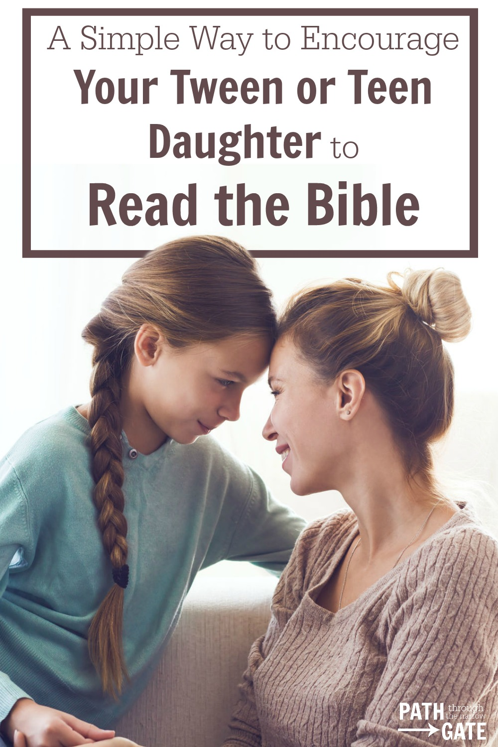 Would you like to encourage your tween or teen daughter to develop a habit of daily Bible reading while also building a stronger relationship with her? If so, this Mother/Daughter Bible Reading Journal is designed to help you do just that!|Path Through the Narrow Gate.com