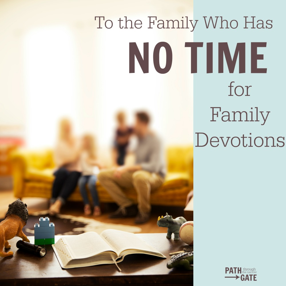 Do you feel like you have no time for family devotions? Family devotions doesn't have to take a lot of time, especially when you follow these 5 easy steps.| Path Through the Narrow Gate.com