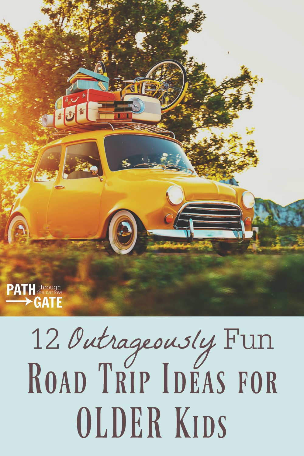 Going on a family vacation, Sunday School outing, or youth group trip with older kids? Here are 12 Outrageously Fun Road Trip Ideas for Older Kids.