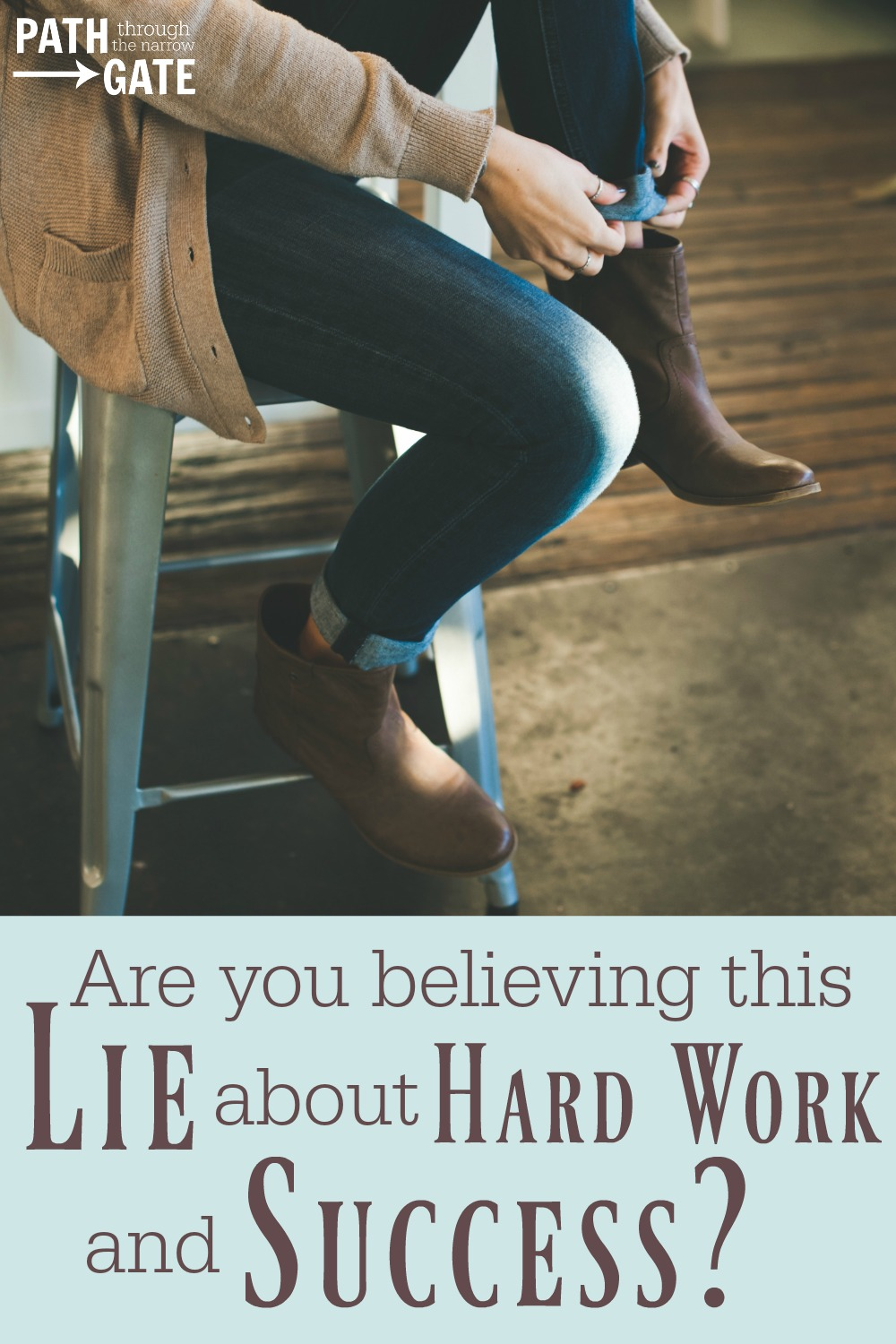 """Do you ever find yourself believing this lie: """"If I work hard enough today, tomorrow will be so much better.""""? Here's what the Bible says about our work."""