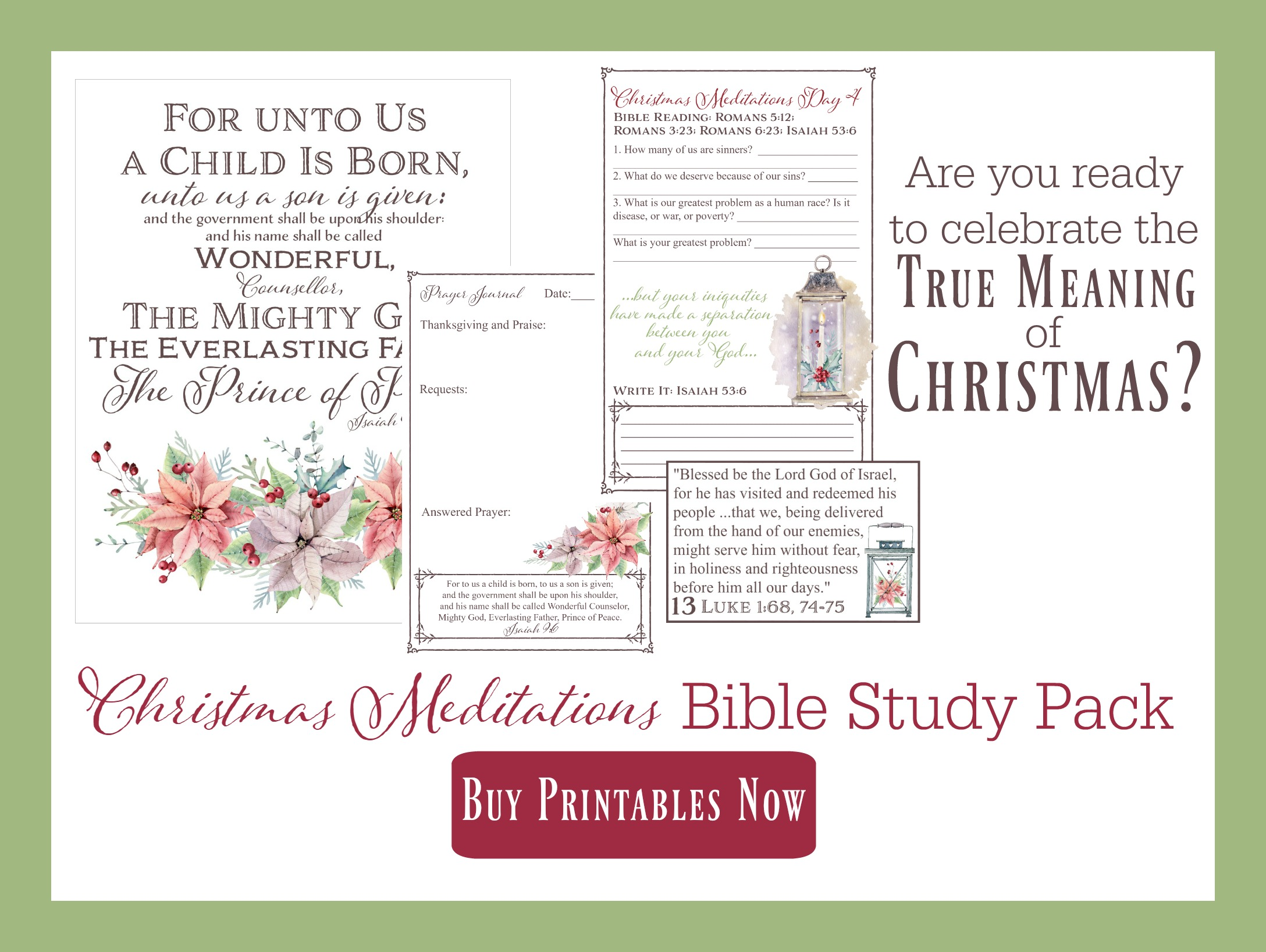 Christmas Meditations Bible Study Pack