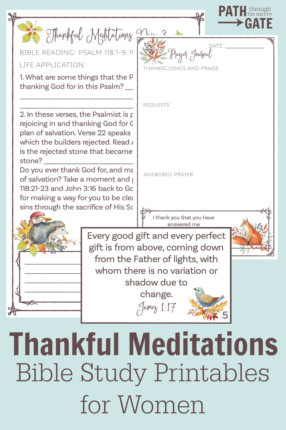 Do you long to pause and give God the worship and thanks He so richly deserves? This Thankful Meditations Bible Study Pack will help you do just that!
