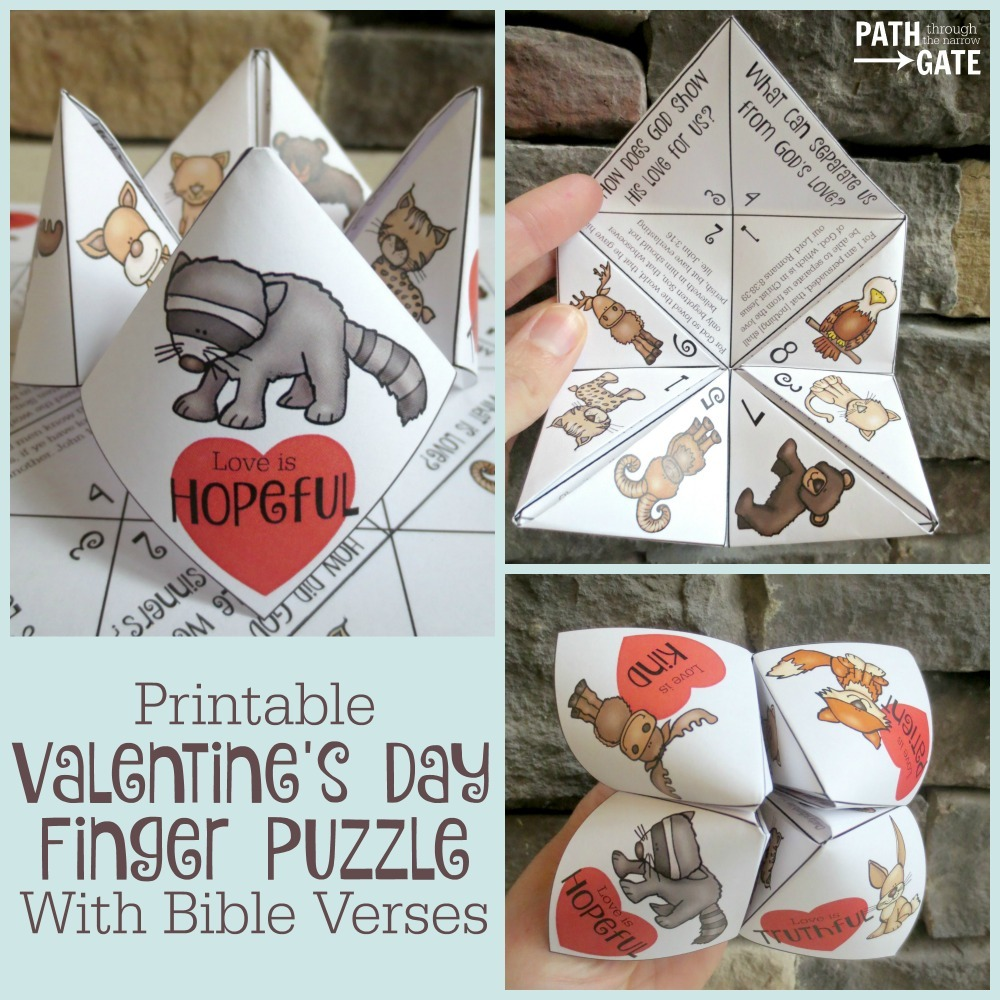 This Valentine's Day Finger Puzzle is a perfect way to remind your kids of God's love. This simple and fun activity is perfect for both boys and girls!