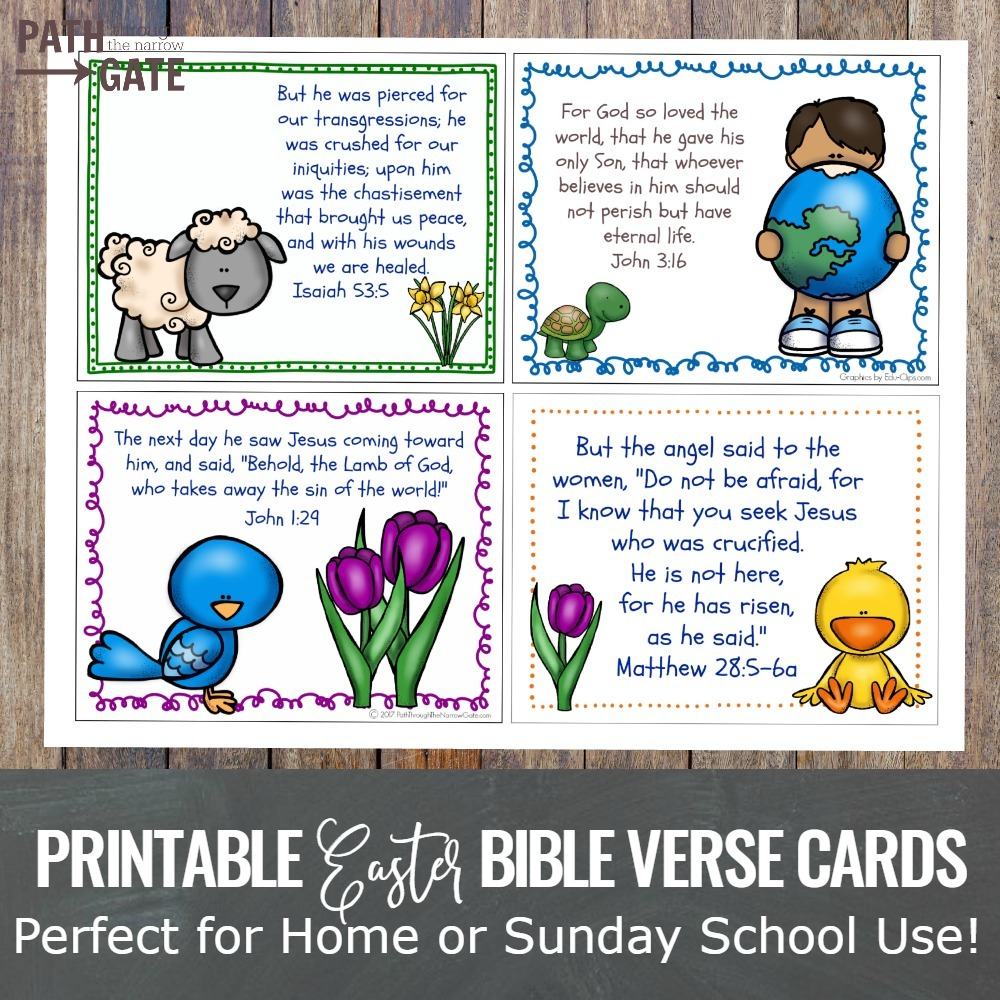 easter bible verse cards set path through the narrow gate