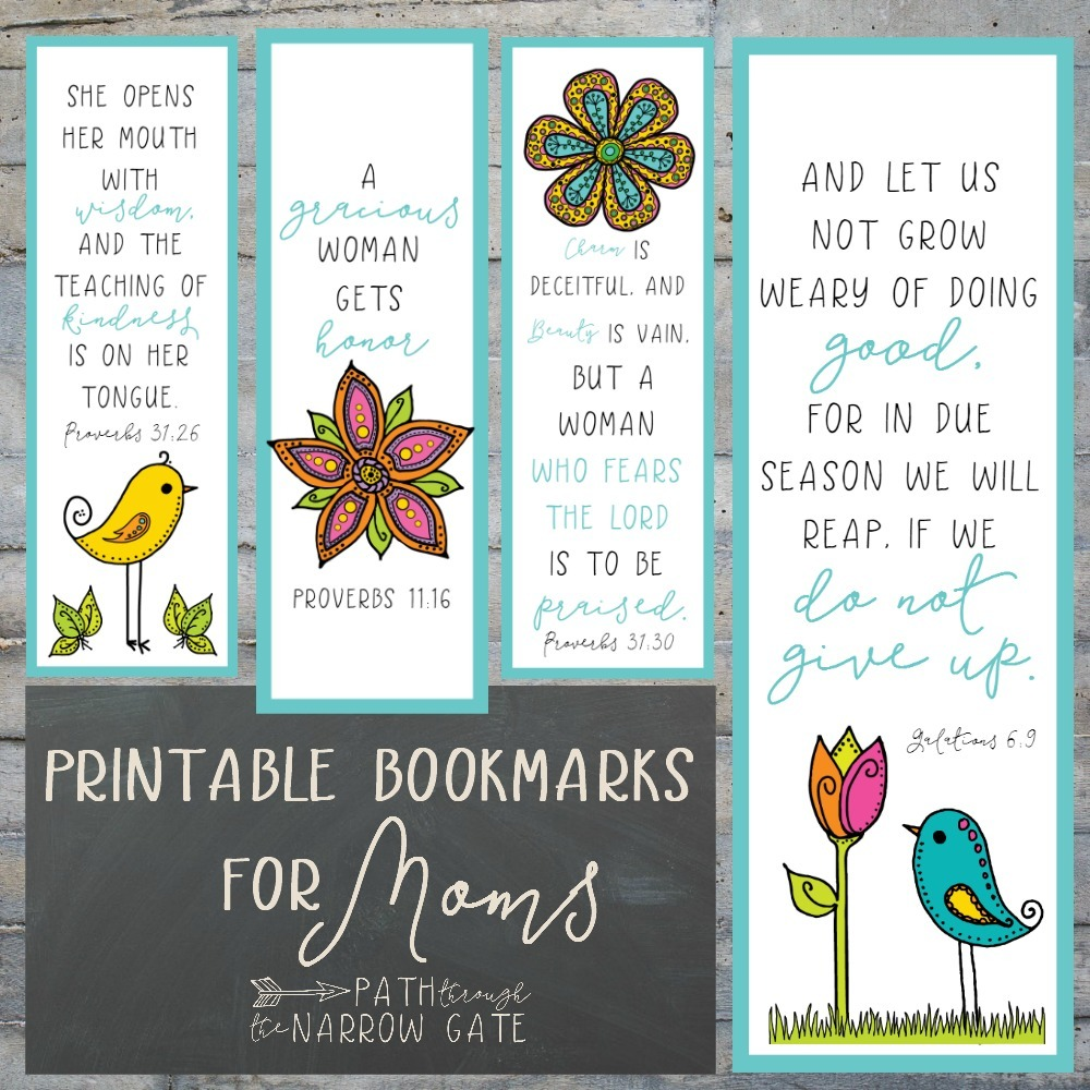 Printable Bookmarks for Moms - Path Through the Narrow Gate