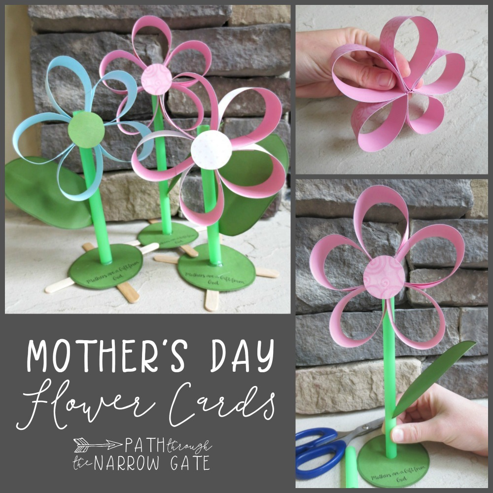 Mothers Day Paper Flower Craft Path Through The Narrow Gate