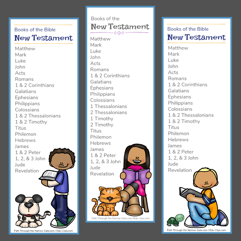 new testament bible bookmarks