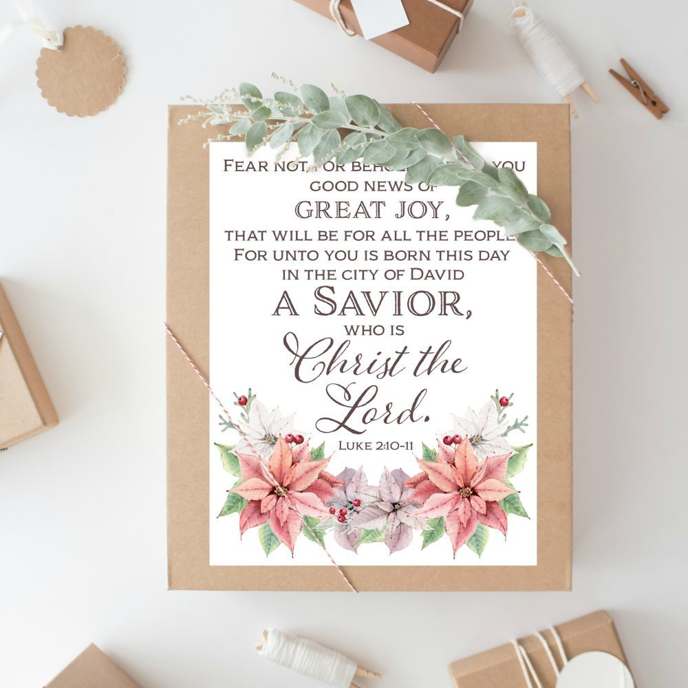 photo relating to Free Printable Bible Verses to Frame identified as Xmas Bible Verse Printables - Way In the course of the Slim Gate
