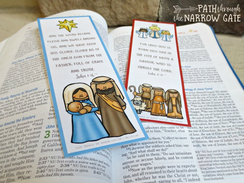Do you need an easy-prep, quick, and fun Christmas craft? Try these printable Christmas bookmarks with Bible verses - perfect for home or classroom use.