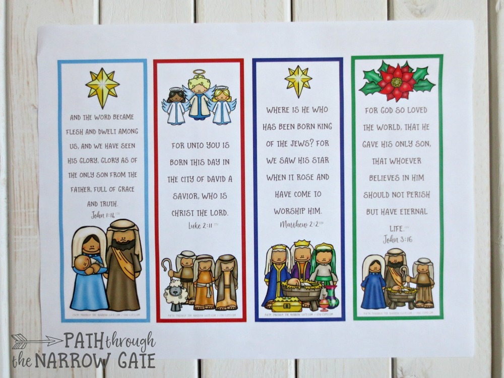 picture regarding Printable Christmas Bookmarks known as Printable Xmas Bookmarks - Way All through the Slender Gate