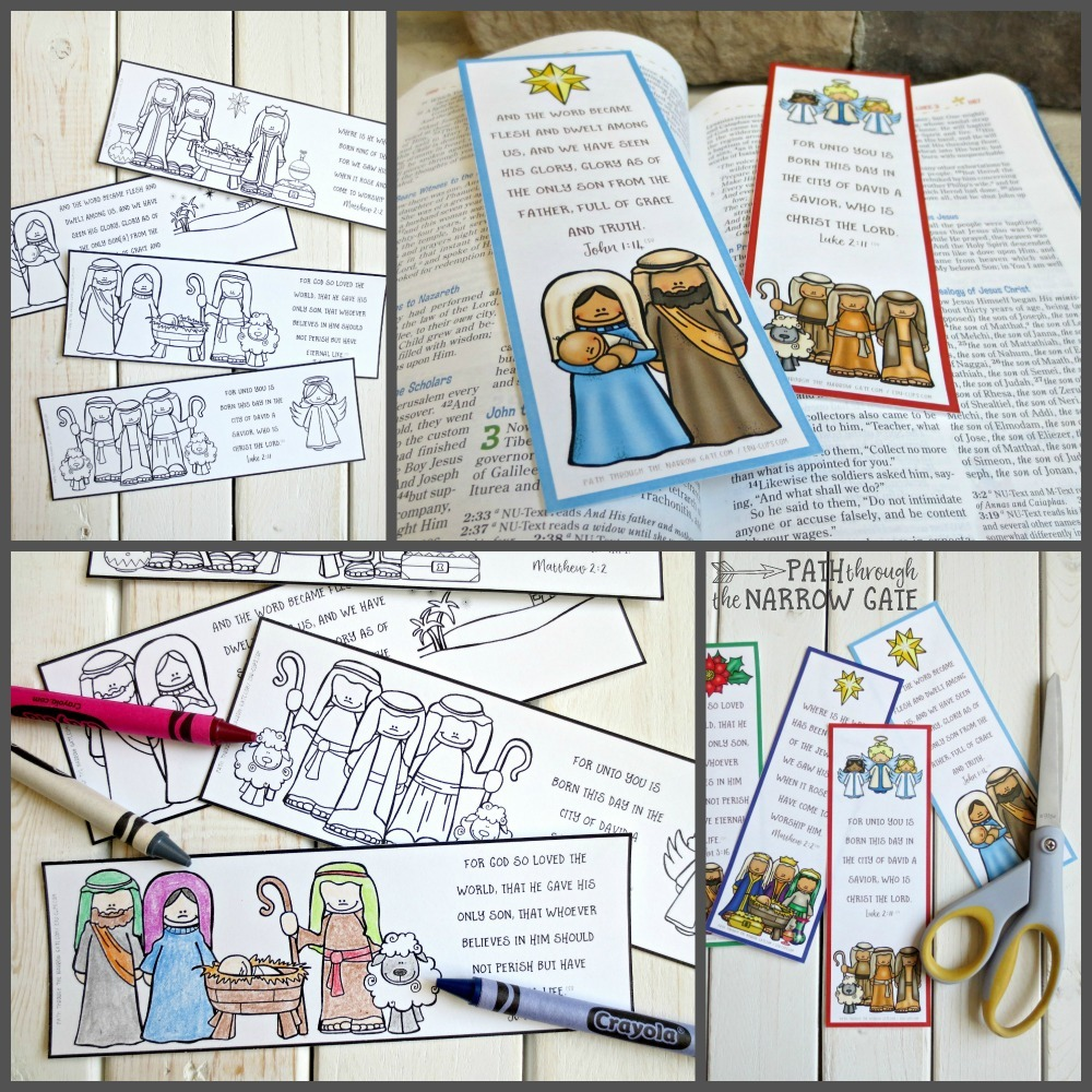 photo about Who I Am in Christ Printable Bookmark named Printable Xmas Bookmarks - Direction During the Slim Gate