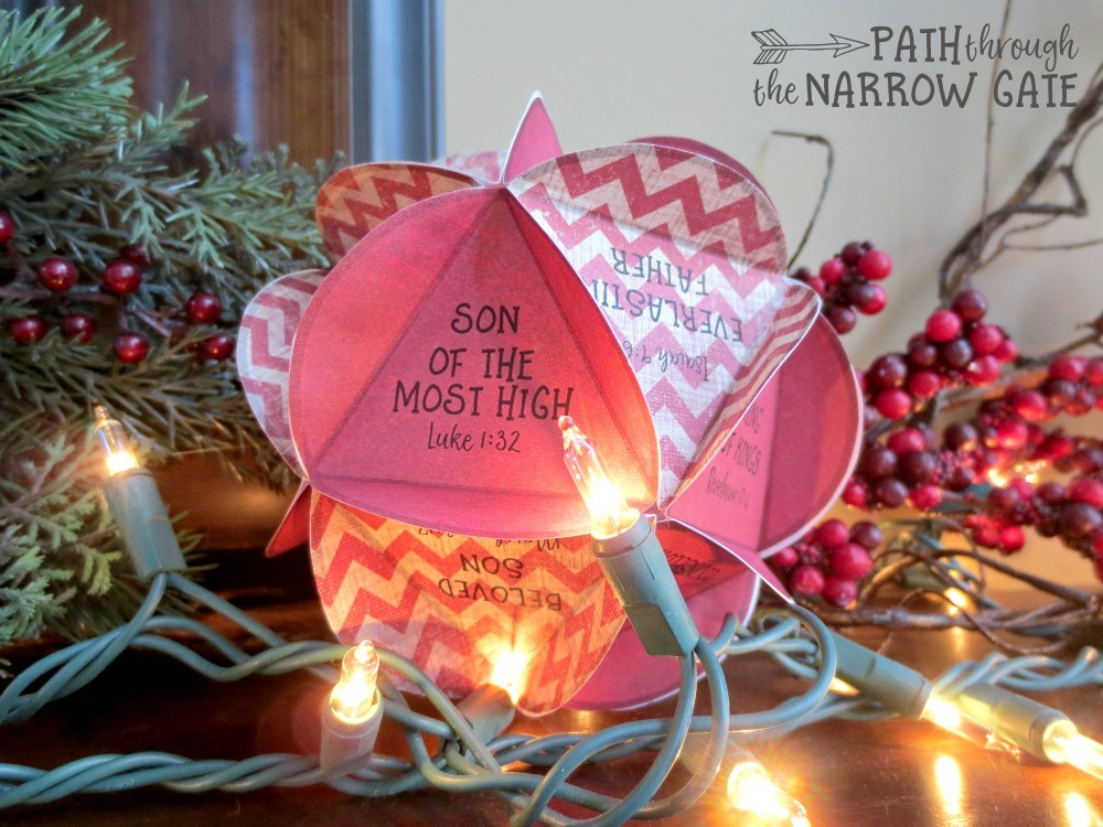 These paper Christmas Ornaments are easy to make - a beautiful way to talk to your kids about the names of Jesus.