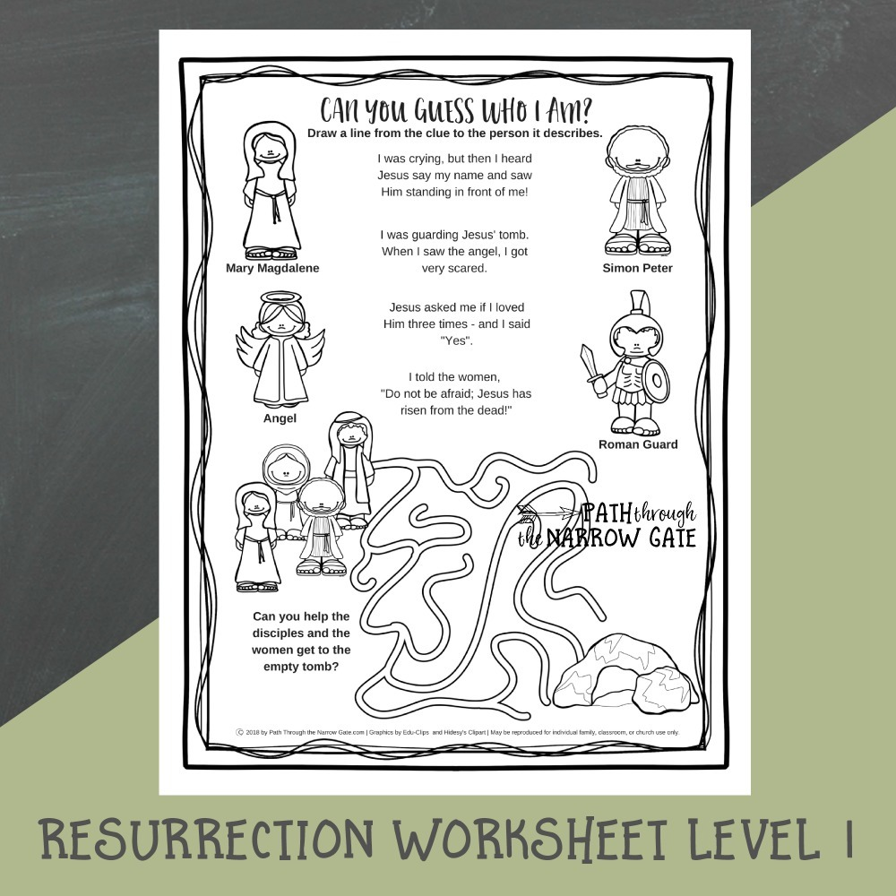 photo regarding Clue Sheets Printable named Easter Worksheets - Route Throughout the Slender Gate