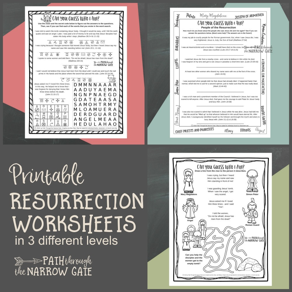 photograph about Easter Trivia Printable referred to as Easter Worksheets - Direction During the Slim Gate