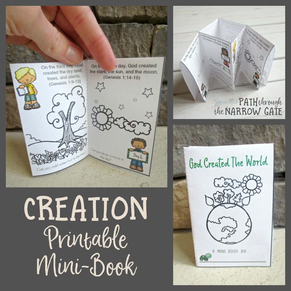 This creation printable mini book is a perfect way to teach kids the story of God creating the world. Taken from Genesis chapter one, each page features a different day of creation and simple activities for kids to complete. It's an easy craft for home or classroom use!