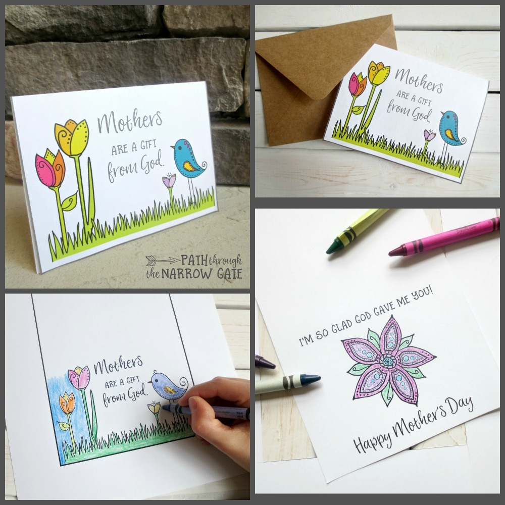 Help your kids show their moms how thankful they are for all of their hard work and love with this super-sweet printable Mother's Day card. Kids love giving gifts to their moms. This printable Mother's Day card is simple to cut out and color and makes a gift that moms will cherish for many years.