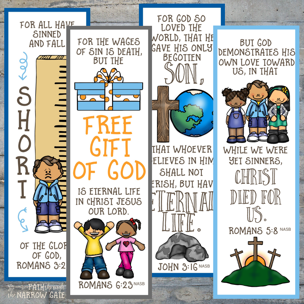 photo about Who I Am in Christ Printable Bookmark called Printable Salvation Bookmarks - Route All through the Slender Gate