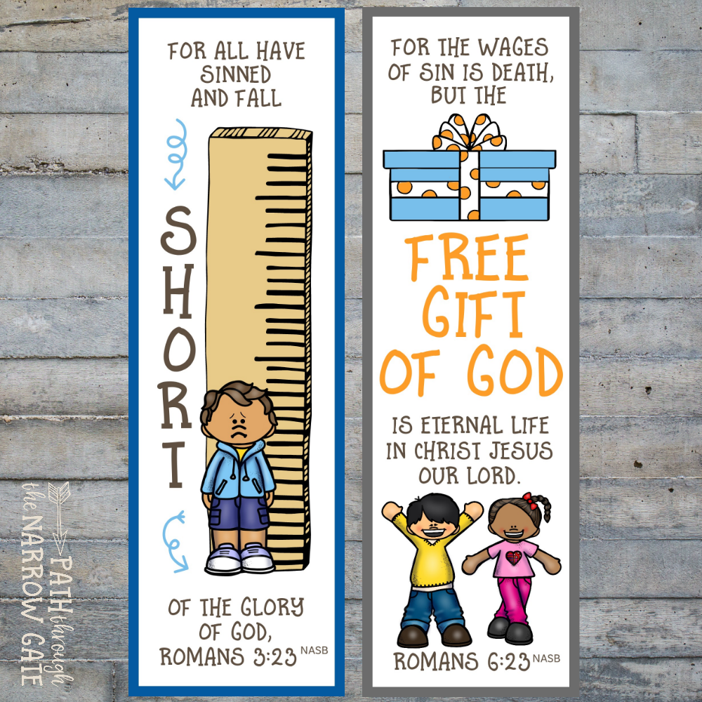 graphic relating to Romans Road Bookmark Printable known as Printable Salvation Bookmarks - Course For the duration of the Slim Gate
