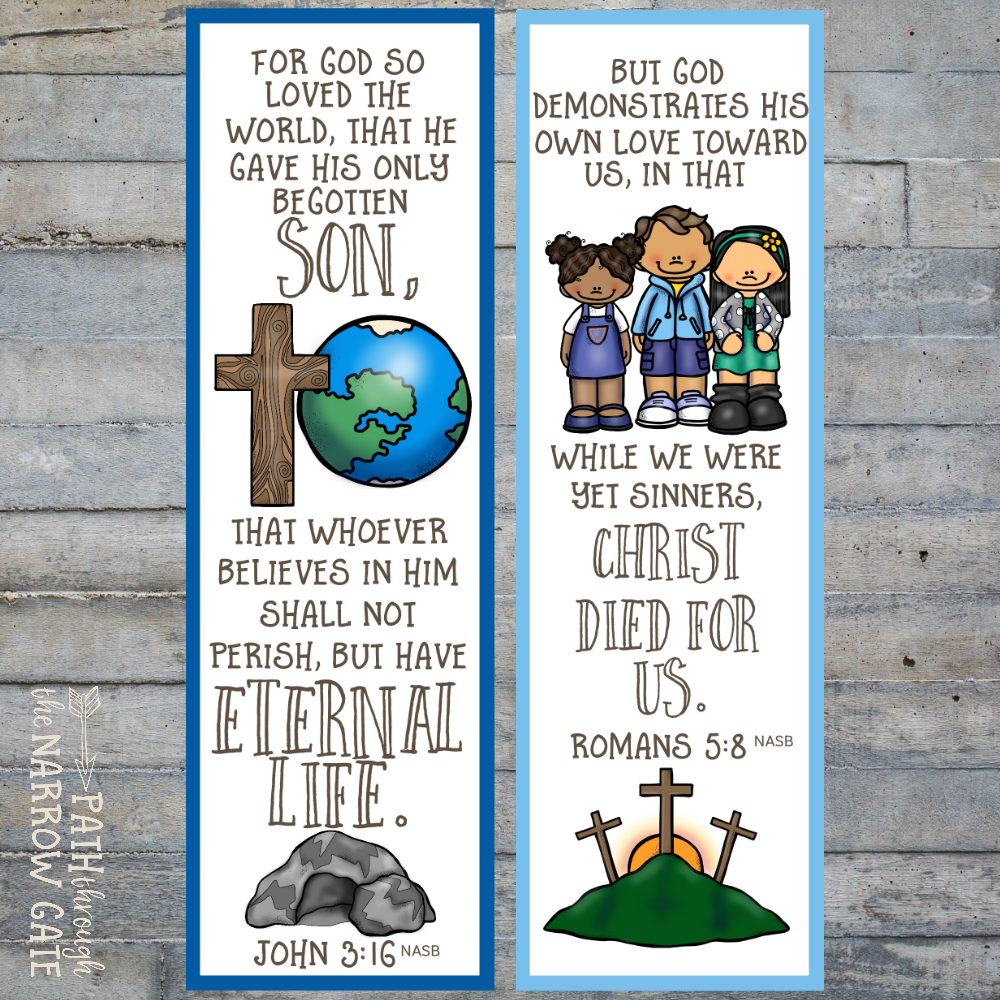 image relating to Romans Road Bookmark Printable identified as Printable Salvation Bookmarks - Direction For the duration of the Slender Gate