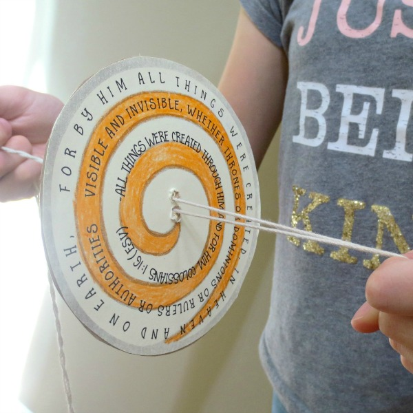 Are your kids fidgety? If so, they will love this Bible Verse Spinner craft - a creative and active way to memorize a Bible verse.