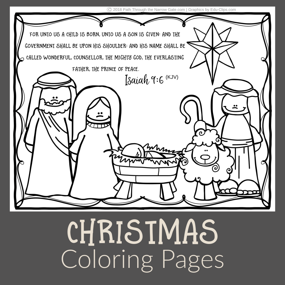 Christmas Coloring Pictures Path Through The Narrow Gate