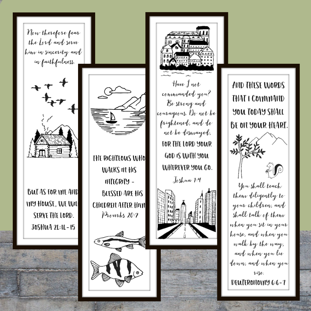 Help your kids celebrate their father with these FREE printable Father's Day Bookmarks featuring Bible verses - sure to become a keepsake!