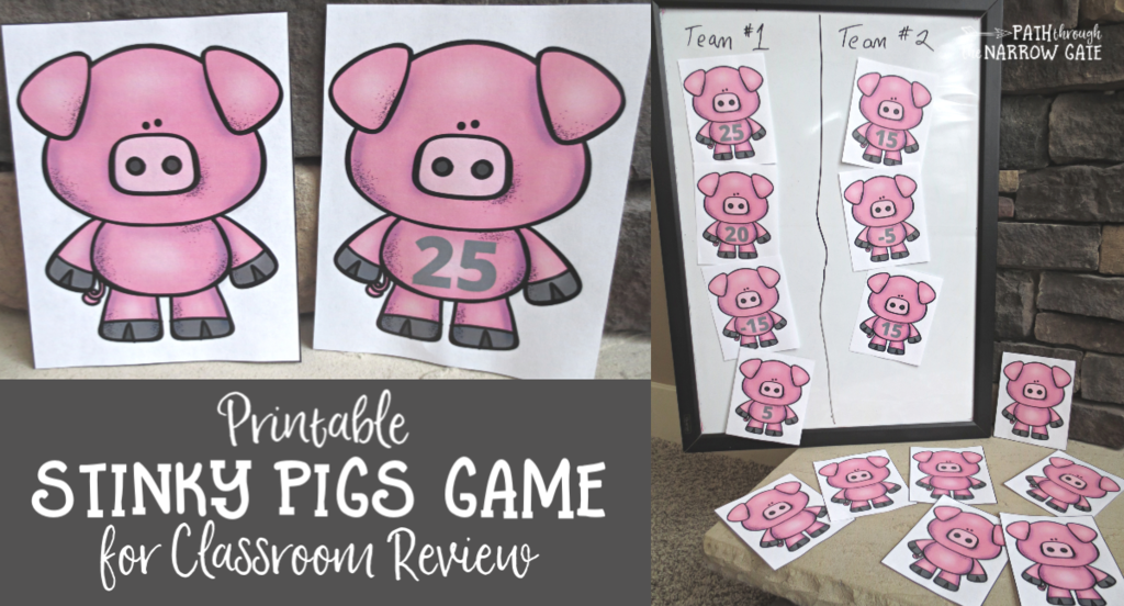 This stinky pigs classroom review game looks like so much fun. I love the variations. I will definitely be playing this game with my class.