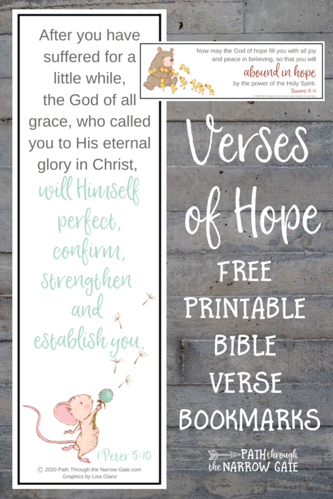 These free printable Bible Verse Bookmarks are filled with God's promises - a perfect way to bring encouragement and hope to the people around you.