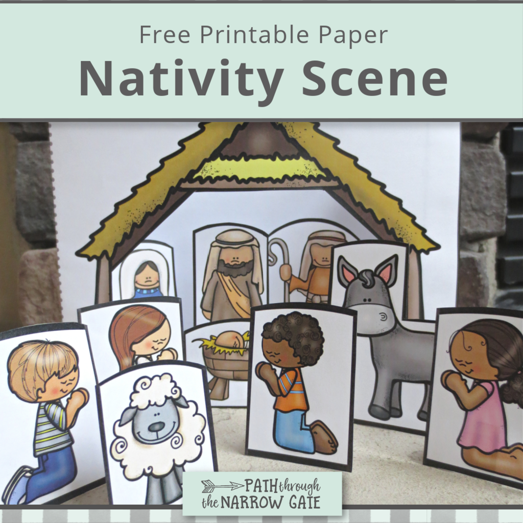 This adorable paper Nativity scene is very simple to make and fun to play with after it's made. Your kids will making it!